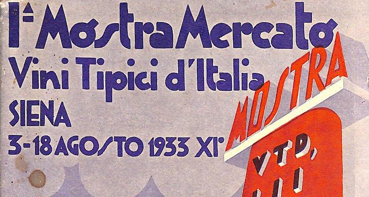 Mostra Mercato dei Vini Tipici d'Italia | 1933, Siena