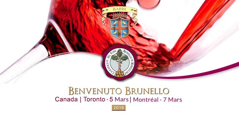 Benvenuto Brunello 2018 Canada | Fattoria dei Barbi