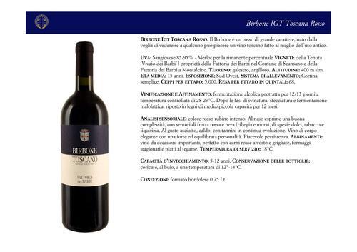 Birbone Toscano IGT Toscana Rosso Fattoria dei Barbi