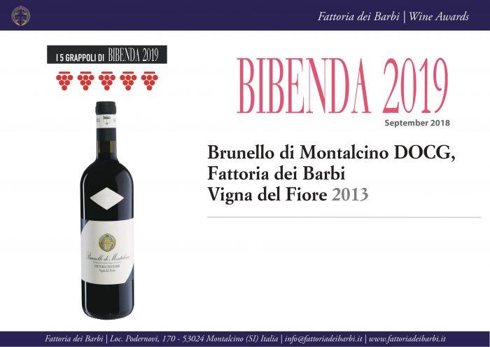 Bibenda 2019 | 5 grappoli al Brunello di Montalcino Fattoria dei Barbi Vigna del Fiore 2013