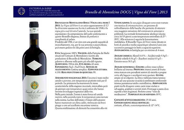 Brunello di Montalcino DOCG | Vigna del Fiore | 2013