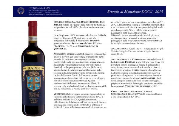 Brunello di Montalcino DOCG | Etichetta Blu | 2013