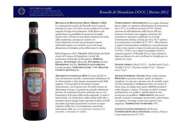 Brunello di Montalcino DOCG | Riserva | 2012
